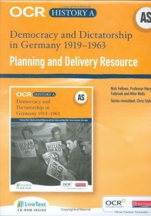 OCR A Level History A: Democracy & Dictatorship in Germany 1919-1963 Teacher LiveText CDRO