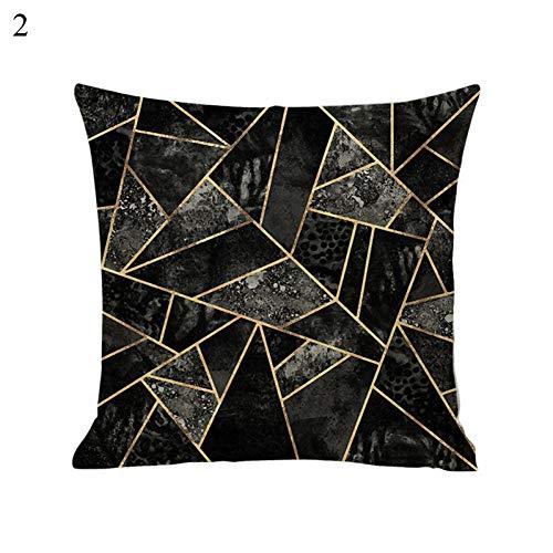 KZYV Funda de Almohada Lino Carta Simple Mármol geométrico Patrón Creativo Hogar Sala de Estar Dormitorio Cama Sofá Decoración de Arte Funda de Almohada