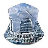 LAURE Crucero en la bahía con rascacielos en el fondo Calentador de cuello/Bufanda Polaina/Invierno - Pasamontañas para clima frío