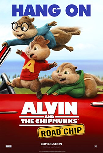 Alvin and the Chipmunks: The Road Chip - 24' X 36' Movie Poster on Glossy Photo Paper (Thick 8mil) Alvin, Theodore, and Simon