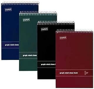 Staples® White Paper Steno Pads, Quad Ruled, 6