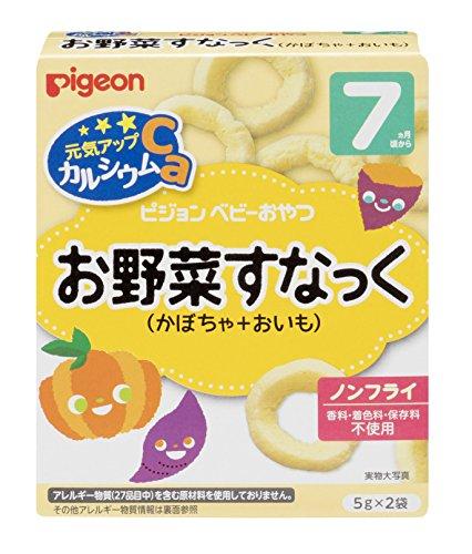 ピジョン 元気アップCa お野菜すなっく(かぼちゃ+おいも) 5g×2袋入×6箱