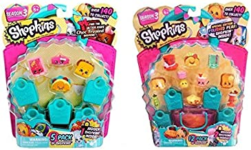 Shopkins Season 3 Playset Bundle - One S3 12 Pack and One S3 5 Pack (Styles Will Vary)