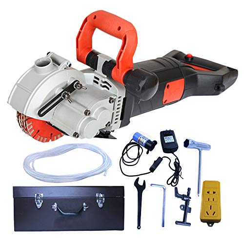 ZXMOTO Wall Groove Cutting Machine 110V 4800W Wall Slotting Machine Electric Wall Chaser for Brick Granite Marble Concrete Cutter Notcher Groover