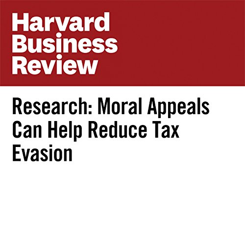 Research: Moral Appeals Can Help Reduce Tax Evasion copertina