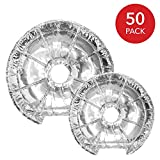 Electric Stove Burner Covers (50 Pack) – Electric Stove Bib Liners - Disposable Aluminum Foil 6 Inch and 8...