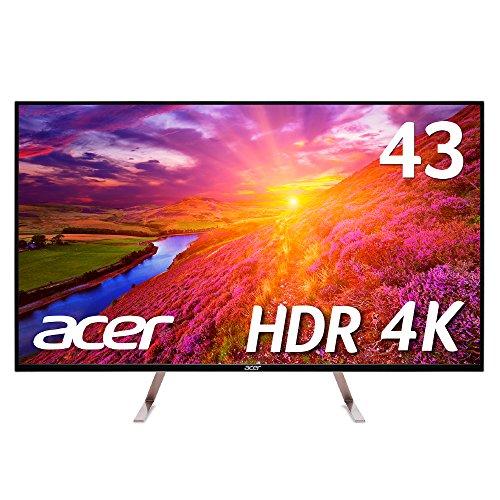 【Amazon.co.jp限定】Acer 4Kモニターディスプレイ ET430Kbmiiqppx 43インチ/HDR Ready対応/IPS/4K/16:9/5m...