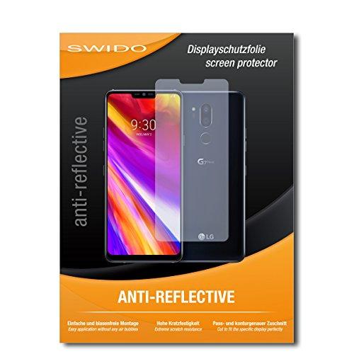 SWIDO Schutzfolie für LG G7 ThinQ [2 Stück] Anti-Reflex MATT Entspiegelnd, Hoher Festigkeitgrad, Schutz vor Kratzer/Bildschirmschutz, Bildschirmschutzfolie, Panzerglas-Folie