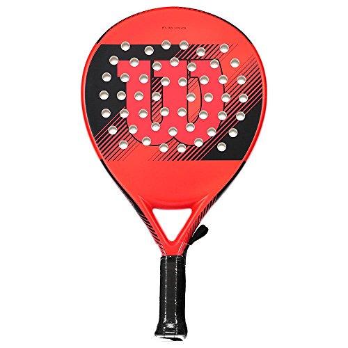 Wilson Striker Pala de pádel, EVA/Núcleo de fibra de vidrio, 370 g, apto también para tenis playa, Unisex, Rojo