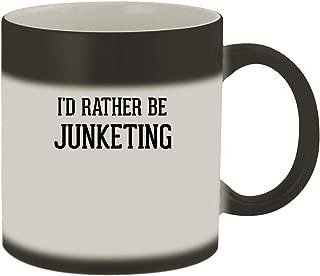 I'd Rather Be JUNKETING - 11oz Ceramic Matte Black Color Changing Mug, Matte Black