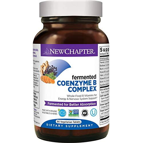 New Chapter Vitamin B Complex + Elderberry – Fermented Coenzyme B Complex (Formerly Coenzyme B Food Complex) with Vitamin B12 + Vitamin B6 + Biotin - 90 Ct (Packaging May Vary)