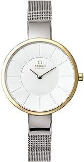 ساعة اوباكو كوارتز ستانلس ستيل لون فضي (V149LXAIMC)