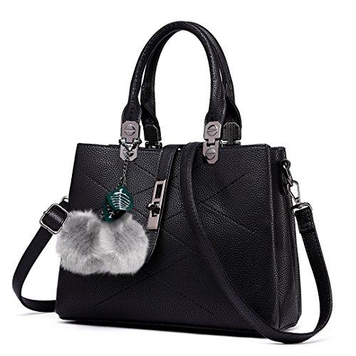 Miss Lulu Handtasche Prägnante Dekoration Top Griff Handtasche Büro Lady Umhängetaschen