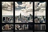 Pyramid America New York City Window Skyline Photo Photograph Cool Wall Decor Art Print Poster 36x24