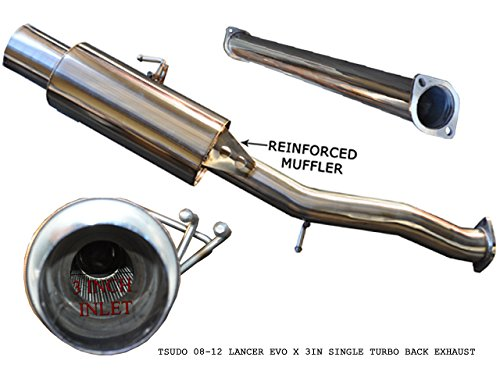 Tsudo 08-16 Evo X 3in Single Exit Catback Stainless Steel Tip Exhaust