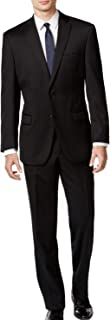 Mens Mitchell Wool Slim Fit Two-Button Suit Black 44L
