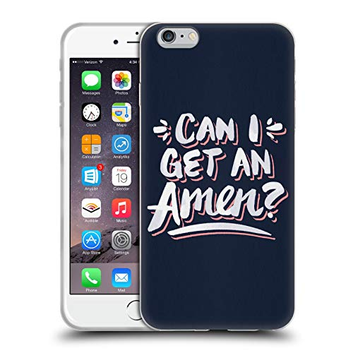 Head Case Designs Oficial Cat Coquillette ¿Puedo Obtener Un Amén 1 Cotizaciones Tipografía 7 Carcasa de Gel de Silicona Compatible con Apple iPhone 6 Plus/iPhone 6s Plus