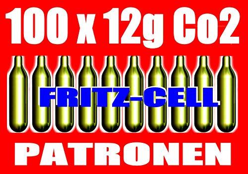 fritz-cell 100 12g Co2 Kapseln für Softair, Painball, Luftpistolen oder Luftgewehre