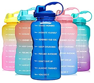 Venture Pal Large 1 Gallon/128 OZ (When Full) Motivational BPA Free Leakproof Water Bottle with Straw & Time Marker Perfect for Fitness Gym Camping Outdoor Sports-Deep Blue (B07Q55TR2D)   Amazon price tracker / tracking, Amazon price history charts, Amazon price watches, Amazon price drop alerts