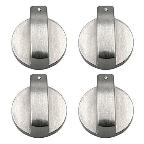 4 PCS Metal 8mm Universal Plata Cocina de gas Botones de control Adaptadores Horno Interruptor Cocina Control de superficie Cerraduras