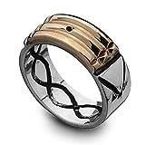 Kabbalah Atlantis Ring for Protection 18K Gold & 950 Silver