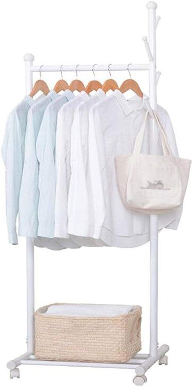 KXBYMX Coat Rack hat Rack Hall shoes Rack Umbrella Bag Rack with Detachable Hook Height 170 cm White -Multifunctional Coat Rack