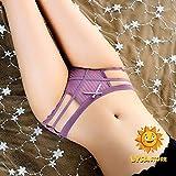 Xiaobing Ropa Interior Sexy para niñas de algodón C Tanga de Cintura Baja Recorte Desnudo Mujeres cómodas-púrpura-Talla única-M1919