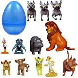 PARK AVE 12 Lion Guard Figures with Jumbo Egg Storage, 1-2' Tall Mini King Figure Toys for Kids Deluxe Cupcake Cake Toppers Party Favor Decoration