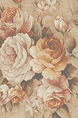 Erdenet Carpet Tappeto Design Moderno Fiori 200x300 cm Lana Grigio Tortora (200_x_300)