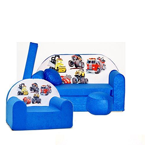 Barabike C14 pour Enfants Ensemble, bébé Lot de 2 pour Enfant Canapé + Fauteuil pour Enfant