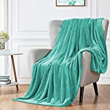"""Walensee Fleece Blanket Plush Throw Fuzzy Lightweight (Queen Size 90""""x90"""" Turquoise) Super Soft Microfiber Flannel Blankets for Couch, Bed, Sofa Ultra Luxurious Warm and Cozy for All Seasons"""