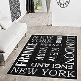 TT Home Tappeto moderno per interni ed esterni New York Sisal in antracite, dimensioni: 160 x 220 cm