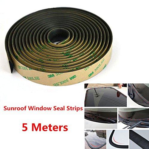 Tiras selladas de 5 m para el parabrisas del coche, techo de sol triangular, sello de ventana