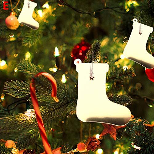 Heetey Weihnachten Home Decor, Acrylspiegelausgangsdekoration Weihnachtsbaumschmucke Weihnachten Anhänger Weihnachten Acryl Home Decoration Christbaumschmuck Weihnachtskugeln