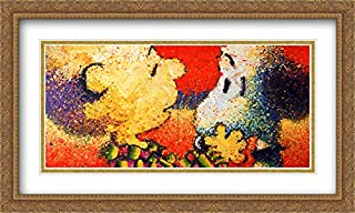 Dog Breath 2X Matted 40x28 Large Gold Ornate Framed Art Print by Tom Everhart