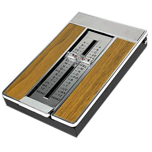 Telefonregister 70-er Jahre-Style Holz-Look