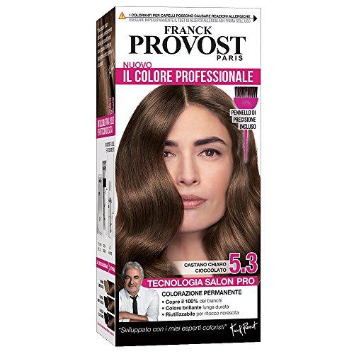 Franck Provost Expert Colorazione Permanente Capelli, Tinta Copertura Ottima, Colore Professionale 5.3 Castano Chiaro Cioccolato