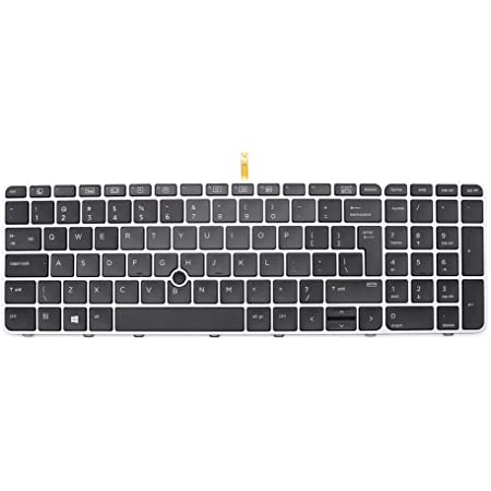 New Backlit Laptop Keyboard Replacement for HP Elitebook 850 G3 G4 755 G3 G4 Zbook 15u G3 G4 821157-001 821195-001 836623-001 819899-001 SN9145BL 831-00323-00A