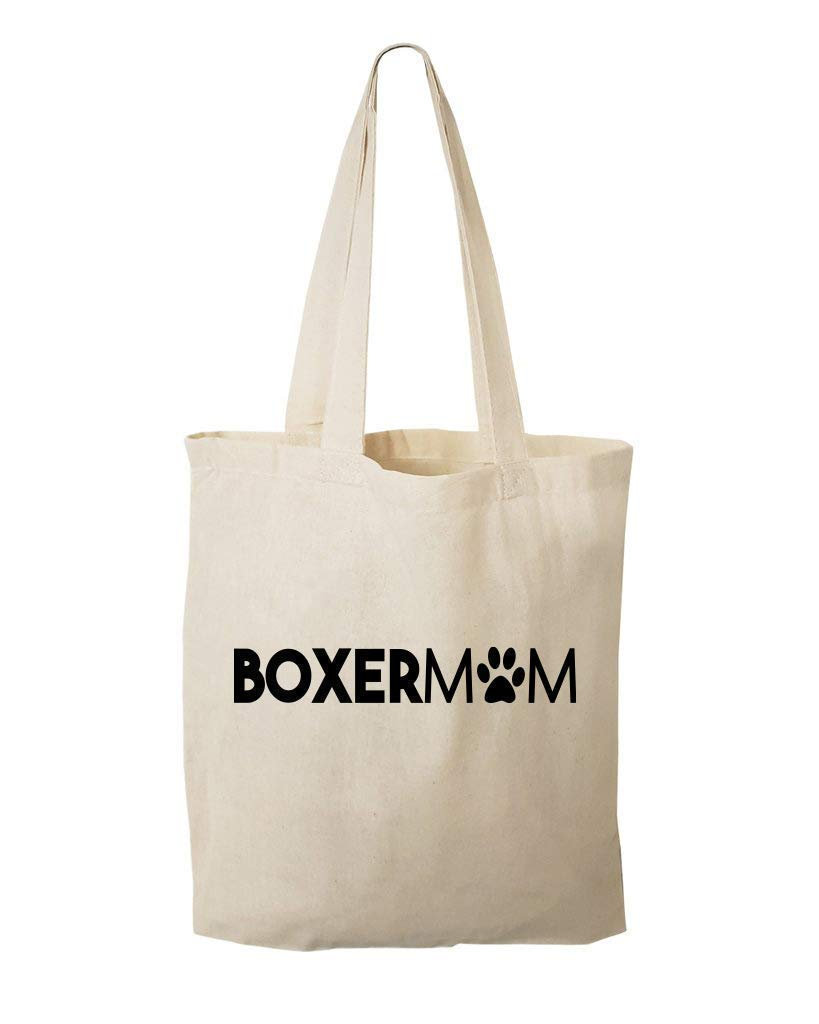 Custom Boxer Mom Very popular Tote - Max 87% OFF BoxerMom Parent Grocery Dog Gift Bag