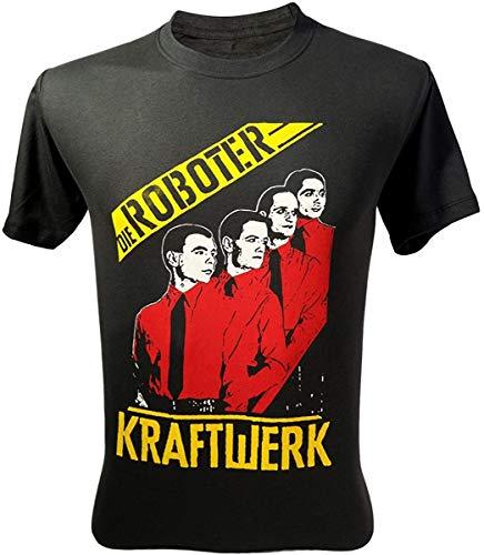 * NEW * Kraftwerk The Robots Die Roboter  T-shirt, Black, S to 3XL