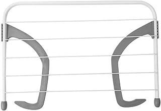 BESTOMZ Tendedero de balcón Tendedero de radiador de Acero (Gris)