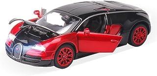 ZHMY 1:32 Bugatti Veyron Alloy Diecast car Model Collection Light&Sound (red)