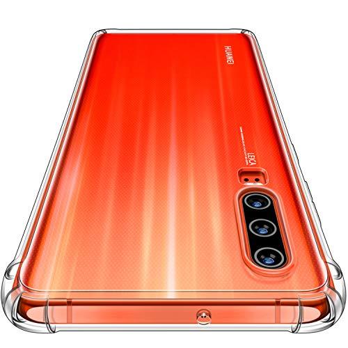 CANSHN Huawei P30 Hülle, Hochwertig Transparent Weiche Durchsichtig Dünn Handyhülle mit TPU Stoßfest Fallschutz Bumper Case Cover für Huawei P30 6.1'' - Klar