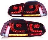 VLAND LED Luci posteriori per Golf 6 MK6 VI GTI GTD TDI TSI R 2008-2013 fanale posteriore con indicatore sequenziale (Rosso e fumo)