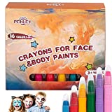 PONLCY Face Paint Crayons for Kids, 16 Colors...