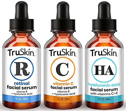 TruSkin Age Defying 3-Pack Bundle with Vitamin C Serum, Retinol Serum and Hyaluronic Acid