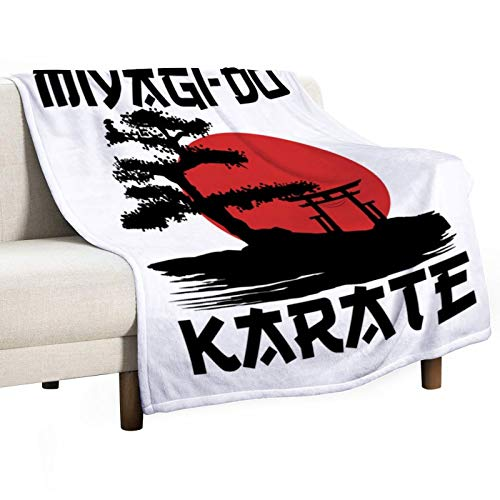 Printing Blanket Miyagi Do Karate Bonsai Tree Japanese StyleSingle-Sided All Seasons Anti Pilling Flannel Throw Blankets for Couch & Bed for Kids Teenage Boys Girls Gifts 50''×60''
