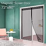 Magnetic Screen Door for French Door (72'W80'L) IKSTAR Sliding Screen Door with...