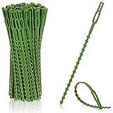 com-four® 200x Carpeta de plástico Verde para Plantas - Estabilizar Plantas - Cinta de unión para árboles - Fijación para Plantas, 17 cm (17cm)