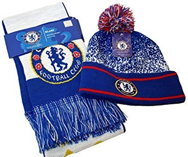 FC Chelsea Authentic Official Licensed Product Soccer Beanie & Scarf Combo-006 by RHINOXGROUP